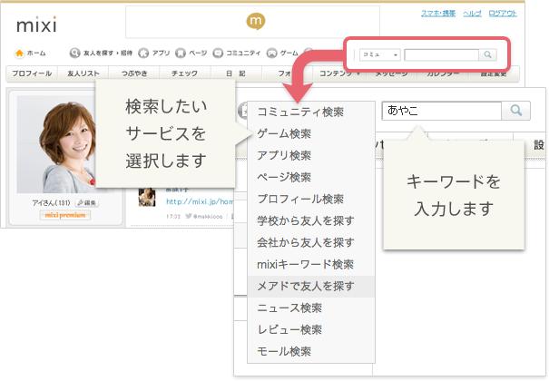 検索機能の利用イメージ